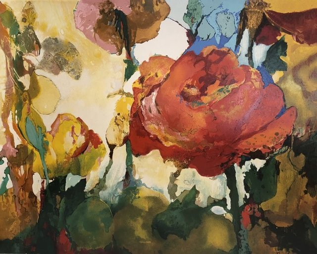 , 'Rose Landscape,' 2018, Kelly D Kennedy Fine Art LLC