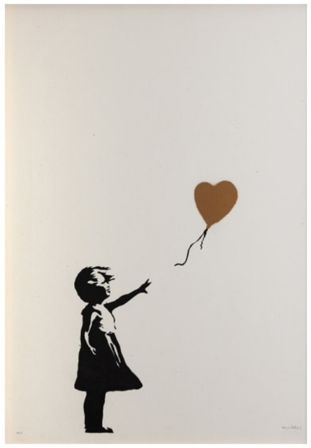 Banksy, 'Girl with Balloon - Colour Artist Proof (GOLD)', 2004, Harper Deyong