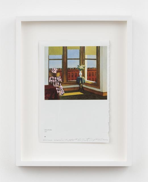 , 'Women Words (Hopper #3),' 2018, P.P.O.W