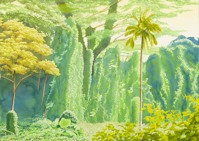 , 'Manoa Rainforest XXIX: Three Trees, Two Vines,' 1999, Childs Gallery