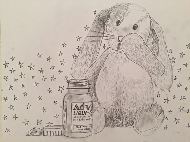 , 'advil  & a bunny,' 2016, Yulia Topchiy