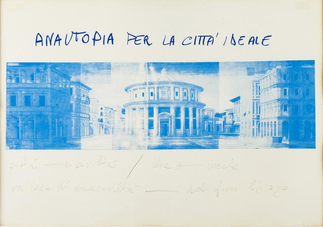 , 'Anautopia per la città ideale,' 1973, Frittelli Arte Contemporanea