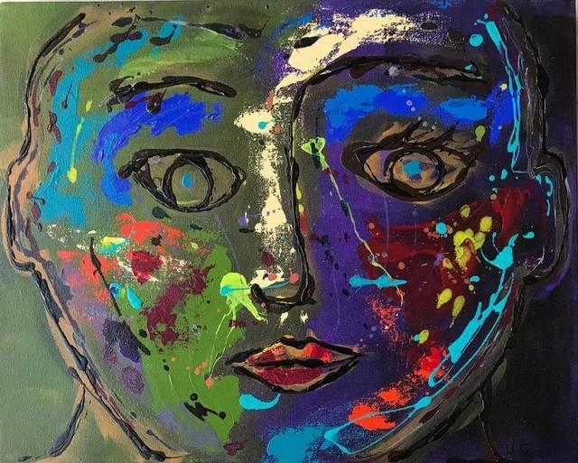 Ana Tatya Neri, 'Erika', Painting, Acrylic on Canvas, Galleria Dante