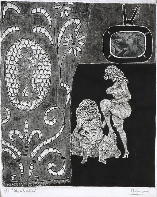 Antonio Berni, 'Detrás de la cortina (Behind the Curtain),' 1963, Blanton Museum of Art