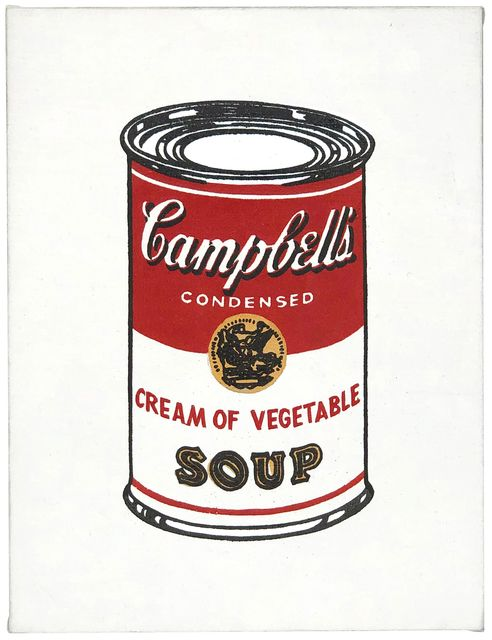 ", '""Andy Warhol Cream of Vegetable (From 32 Campbell's Soup, 1962)"",' 1987, Joseph K. Levene Fine Art, Ltd."