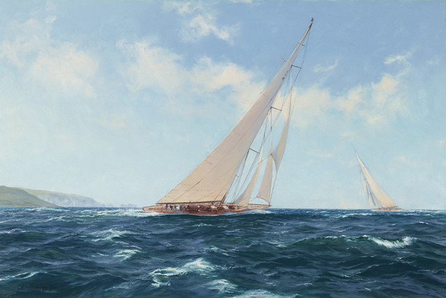 John Steven Dews, 'Velsheda beating to Windward off the Needles', 21st Century,  M.S. Rau