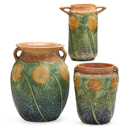 Three Sunflower vases