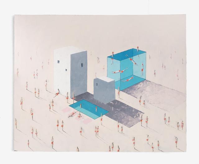 Eddie K., 'Villas 34-35H, Pools 47-48L', 2018, Painting, Oil on canvas, Uprise Art