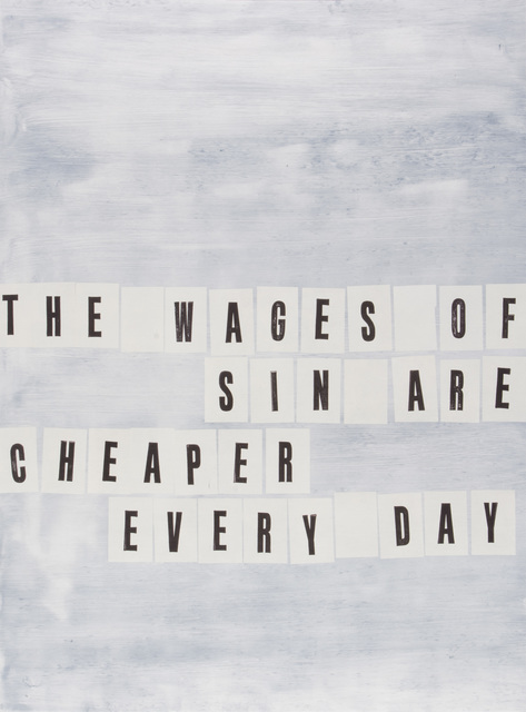 , 'The Wages of Sin,' 2016, Highpoint Editions