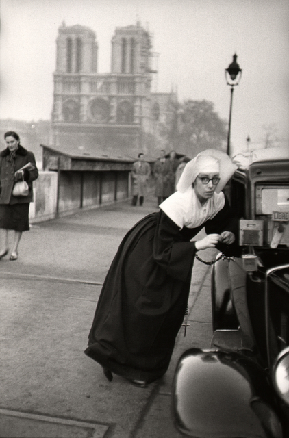 , 'Nun in front of Notre-Dame, Paris.,' 1953, Atlas Gallery