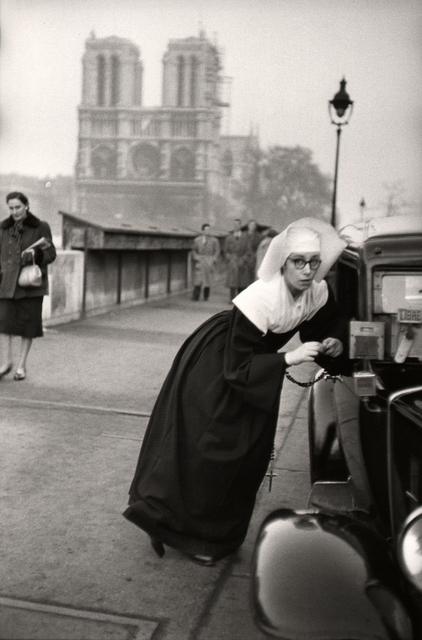 , 'Nun in front of Notre-Dame, Paris.,' 1953, Atlas Gallery