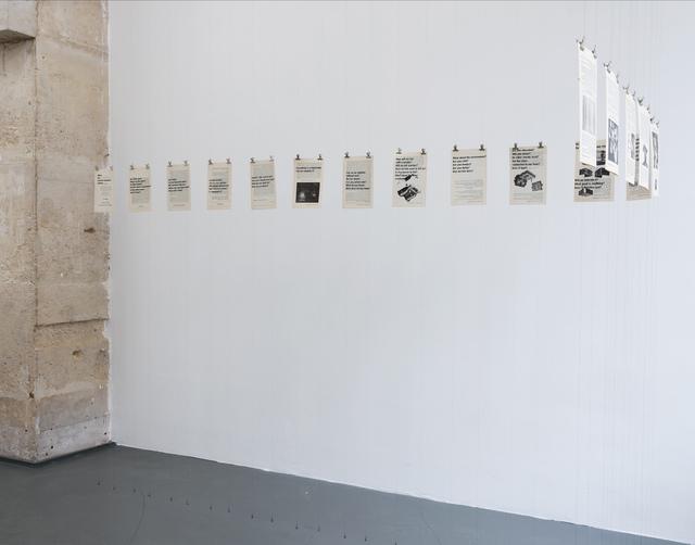 , 'Minus 10 Anarcho-Communist minutes,' 2013, Galerie Jocelyn Wolff