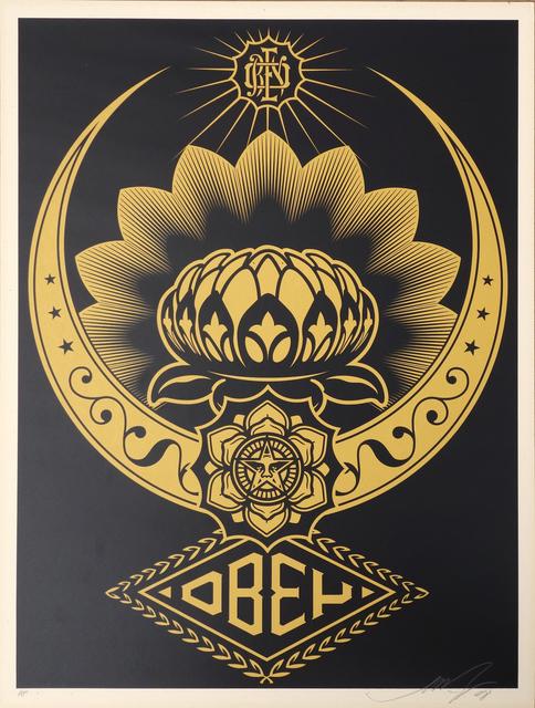 Shepard Fairey (OBEY), 'Lotus ornament Gold', ca. 2018, AYNAC Gallery