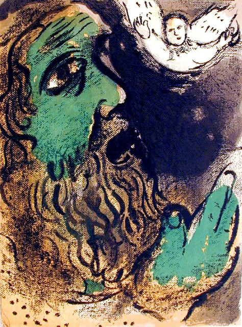 Marc Chagall, 'Job Praying', 1960, Print, Lithograph, Galerie d'Orsay