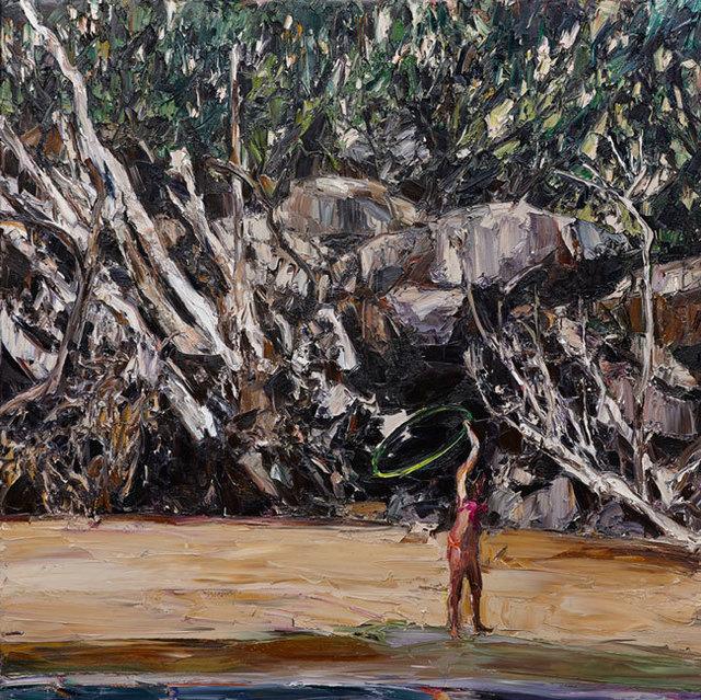 , 'Estuary landscape (hoola-hoop),' 2014, Olsen Irwin