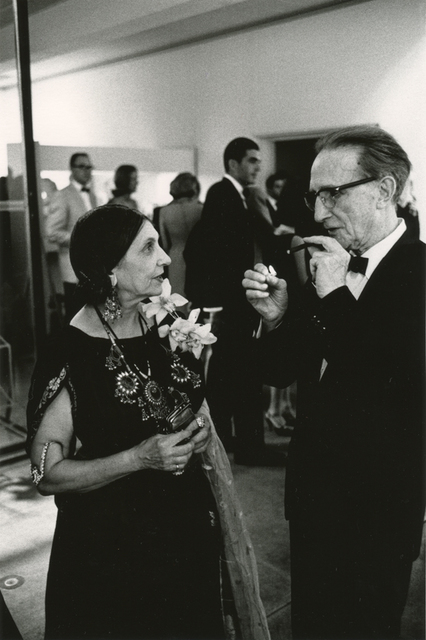 , 'Beatrice Wood and Marcel Duchamp at the Opening Reception, Duchamp Retrospective, Pasadena Art Museum,' 1963, Robert Berman Gallery
