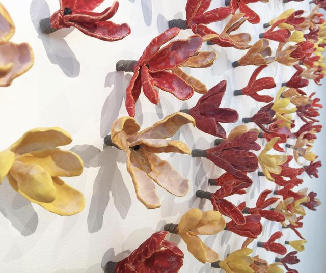 , 'Floral Wall Installation: Red Yellow Orange,' 2017, Callan Contemporary