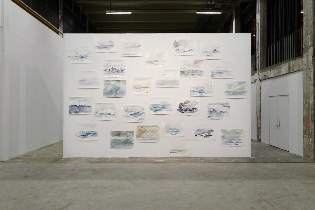 Ragnar Kjartansson, Omnipresent Salty Death, 2015. Exhibition view « Seul Celui qui Connaît le Désir », Palais de Tokyo, Paris, 2015. Courtesy of the artist and Luhring Augustine (New York); I8 Gallery (Reykjavik). Photo : Aurélien Mole.