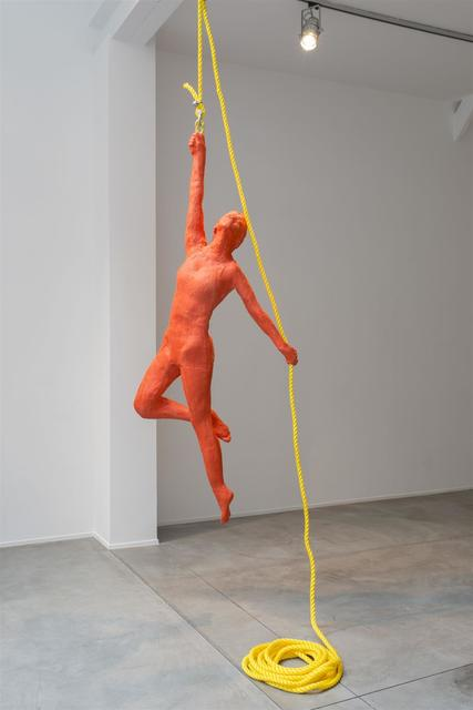 , 'Red Woman Acrobat Hanging From a Rope,' 1996, Templon