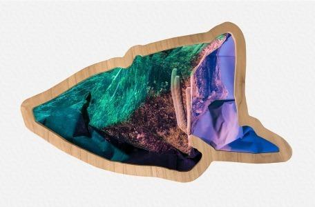 , 'Southwest (pink & green),' 2017, Erin Cluley Gallery