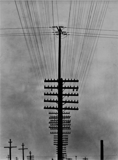 , 'Cables de telégrafo,' ca. 1925, Galeria Enrique Guerrero