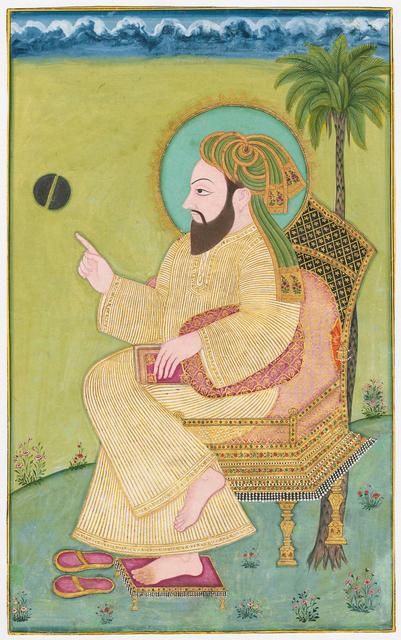 , 'Reading the Miracle of Splitting of the Moon (Shaq-ul-Qamar),' 1780, Phoenix Art Museum