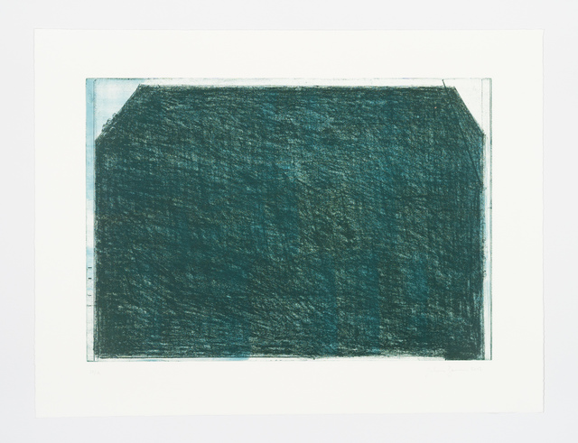 John Zurier, 'October 2 (Green)', 2017, Print, Soft ground etching, spitb ote aquatint, scraping, BORCH