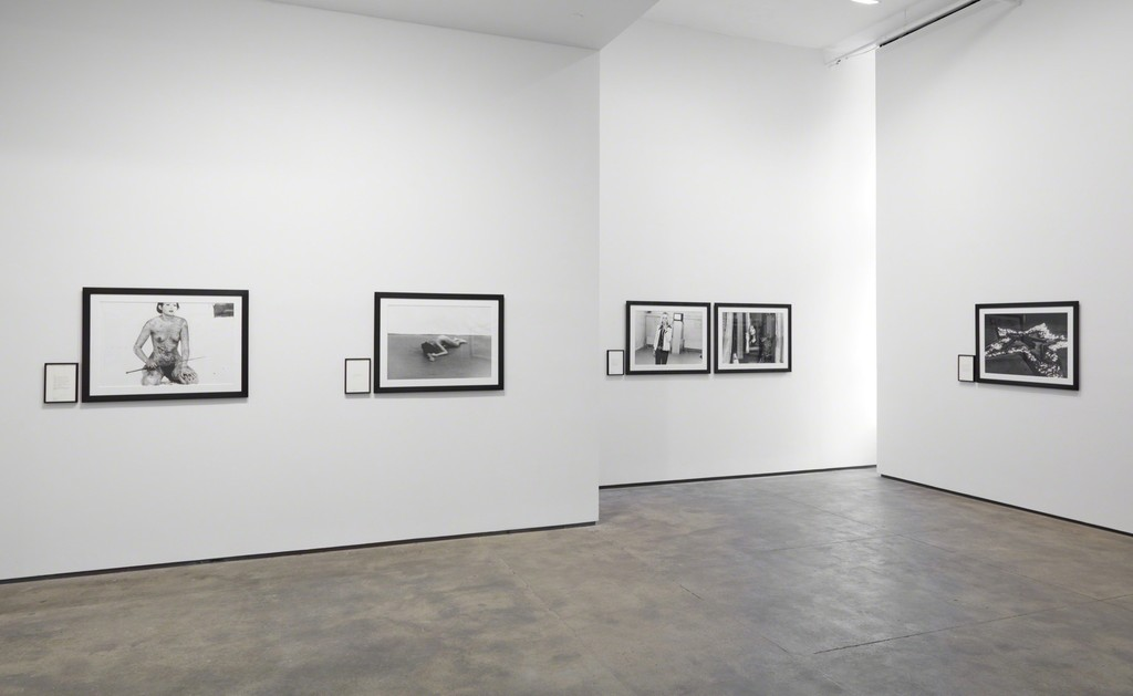 Installation view of Marina Abramović: Early Works at Sean Kelly, New York