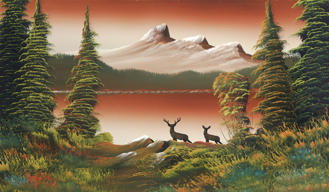 , 'Untitled (Mountain lake with two deer),' n.d., Contemporary Art Gallery