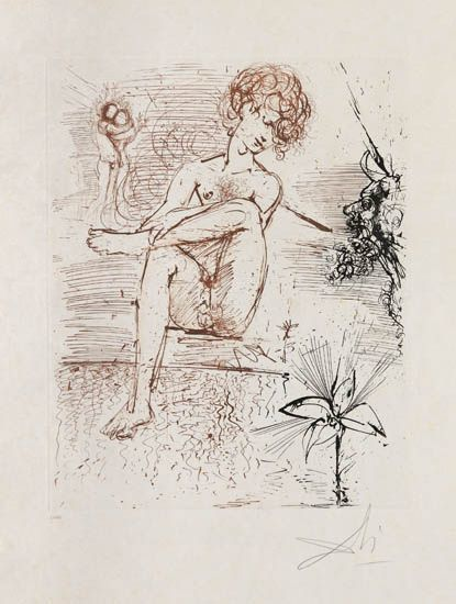 Salvador Dalí, 'Narcissus', 1963-1965, Print, Drypoint and aquatint etching, Galerie d'Orsay