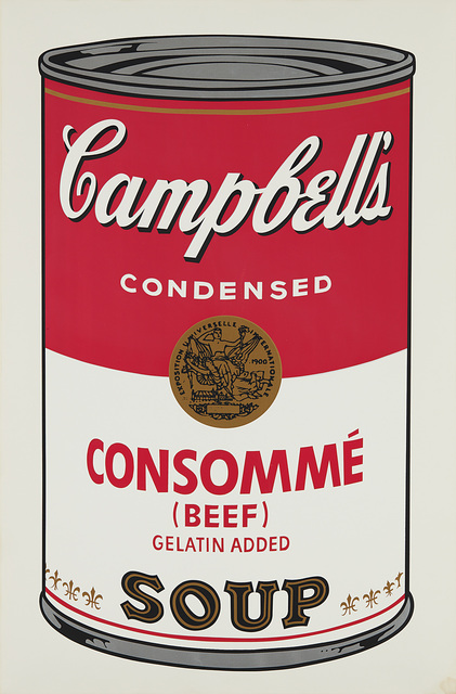 Andy Warhol, 'Consommé Beef, from Campbell's Soup I', 1968, Phillips