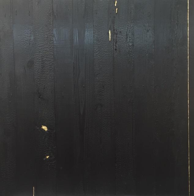 Miya Ando, 'Kintsugi (Repaired with Gold) Shou Sugi Ban (Charred Cedar Wood) 4.4.1', 2016, San Francisco Cinematheque Benefit Auction