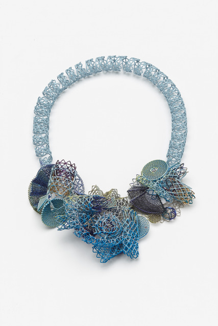 ", '""Hey True Blue"" neckpiece,' 2014, Gallery Loupe"