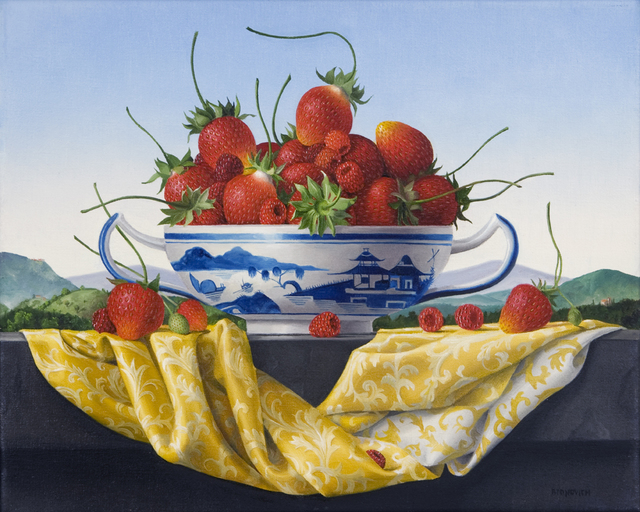 , 'Still Life with Strawberries in a Canton Bowl,' 2014, Clark Gallery