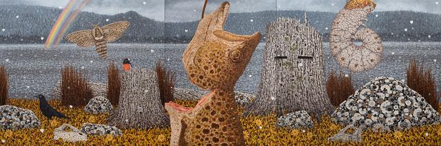 Richard Wastell, 'Woods Lake Zoological Panels', 2019, Bett Gallery