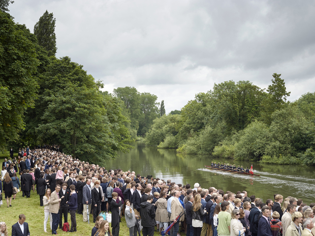 , 'Annual Eton College Procession of Boats, River Thames, Windsor, Berkshire, 17 June 2016,' 2016, Flowers
