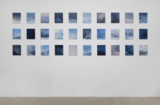 Rebecca Partridge, '30 Day Sky Studies', 2018, Parafin