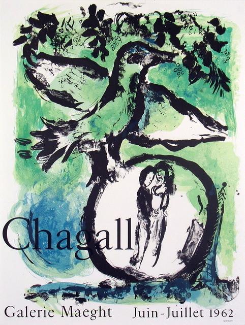 Marc Chagall, 'Oiseau Vert', 1962, Ephemera or Merchandise, Stone Lithograph, ArtWise
