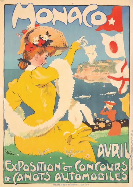, 'Monaco - Avril Exposition - Speedboats,' ca. 1908, Omnibus Gallery