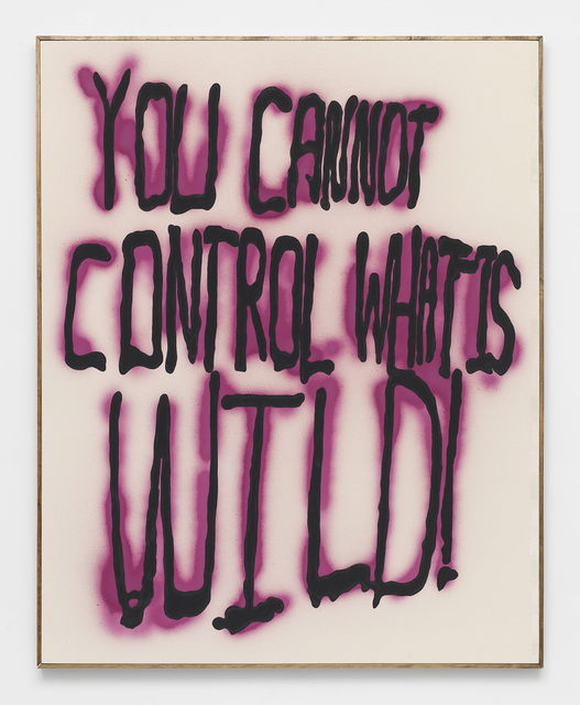 , 'YOU CANNOT CONTROL WHAT IS WILD -- Oregon graffiti from ELF archive w/ Subversive STREET ART organic cold pressed beet paint (Proceeds support ELF, Greenpeace, Planned Parenthood) Support ETHICAL treatment,' 2014, Feuer/Mesler