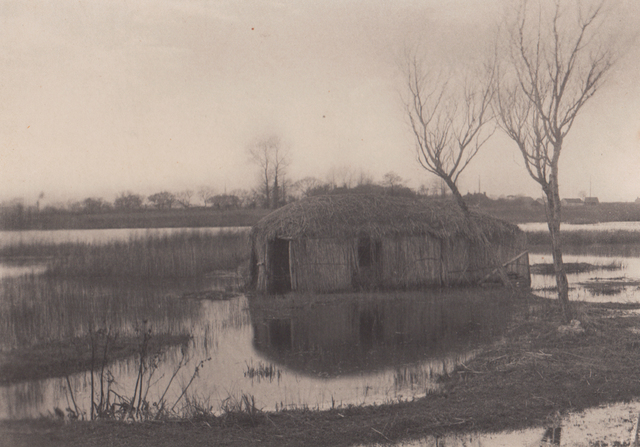 , 'A Reed Boat House,' Neg. date: 1885 c. / Print date: 1885 c., Alan Klotz Gallery