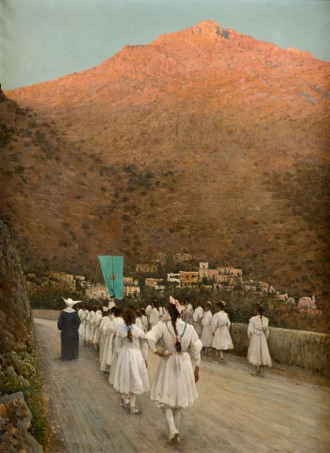 , 'First Holy communion at Positano,' , A. Pallesi Art Gallery