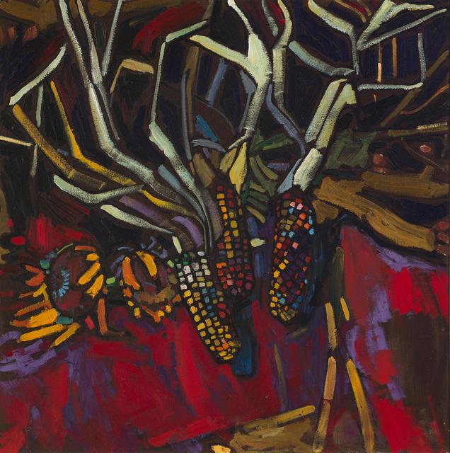 Arthur Shilling, 'Corn And Sunflowers', ca. 1983, Painting, Oil on canvas, Kinsman Robinson Galleries