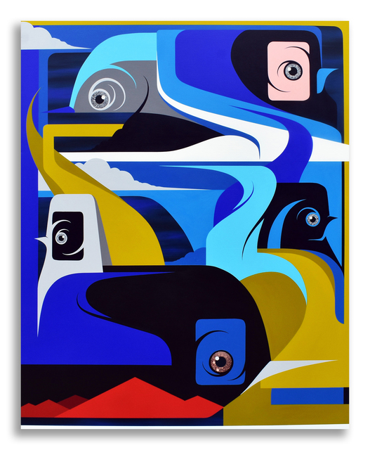MALT, 'Horizons', 2020, Painting, Acrylic and aerosol on canvas, M Contemporary Art