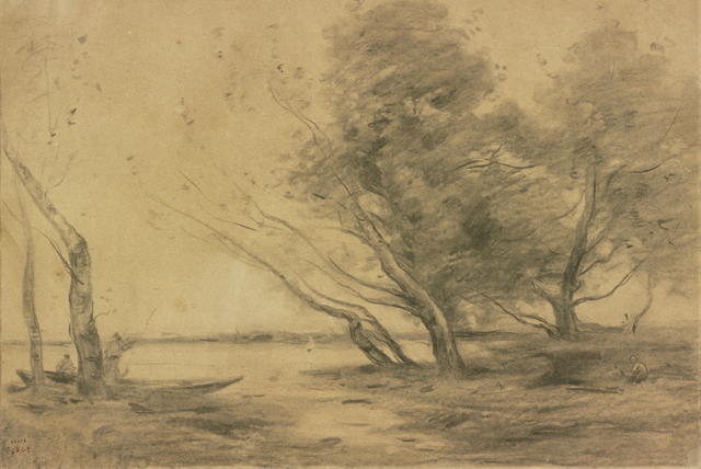 ", 'Study for ""Bank of the Pond after the Storm"",' ca. 1870, The Frick Collection"