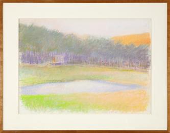 Wolf Kahn, 'Sauna Hut,' 1989, Heather James Fine Art: Curator's Choice