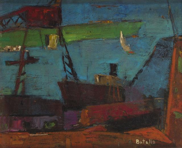 Angel Botello, 'Boats in port', John Moran Auctioneers