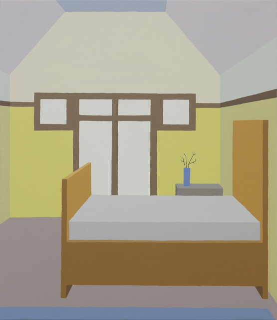 Zsofia Schweger, 'Bedroom at the Frank Lloyd Wright Home and Studio in Oak Park, Illinois', 2019, Painting, Acrylic on canvas, Sapar Contemporary