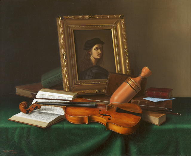 , 'Still Life with Portrait by Raphael,' 1878, Debra Force Fine Art