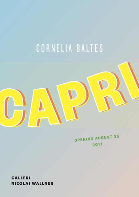 , 'CAPRI,' 2017, Galleri Nicolai Wallner